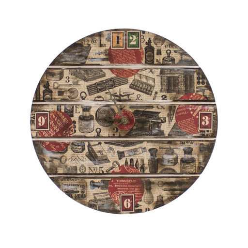 View a Larger Image of Pine Wood Clock Panel, 13 in. Diameter