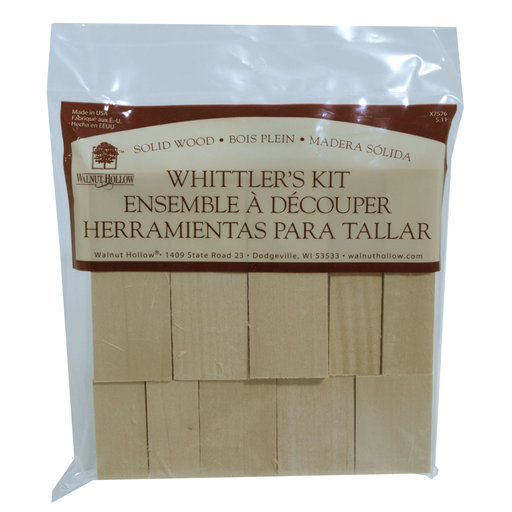View a Larger Image of Whittler's Kit, Basswood, 10 Pieces