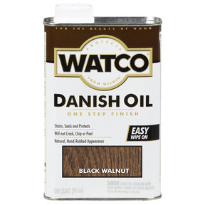 Black Walnut Danish Oil Solvent Based Quart