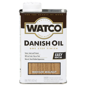 Medium Walnut Danish Oil Solvent Based Pint