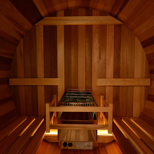 View a Larger Image of Watoga Electric Barrel Sauna in Clear Cedar