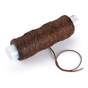 Waxed Nylon Thread, Dark Brown, 25yds.