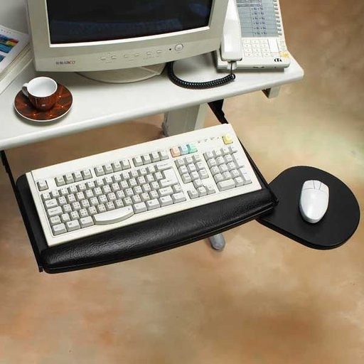 View a Larger Image of Drawer Slide Keyboard Tray and Mouse Platform, Model 29158-2