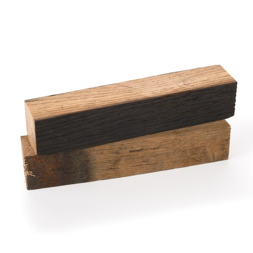 "View a Larger Image of Whiskey Wood 3/4"" x 3/4"" x 5"" Bourbon Whiskey Barrel Staves Pen Blanks 2-piece"