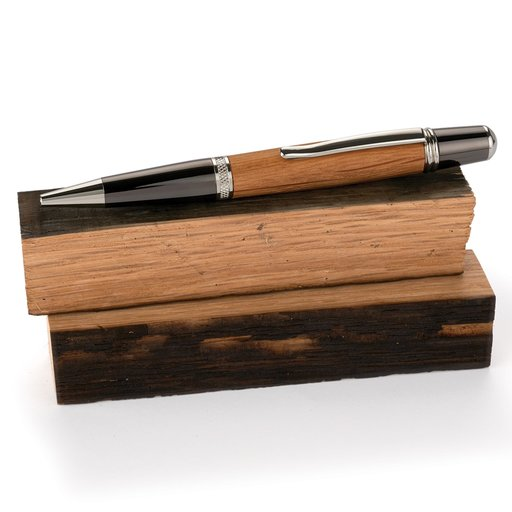 "View a Larger Image of Whiskey Wood 3/4"" x 3/4"" x 5"" Tequila Barrel Staves Pen Blanks 2-piece"