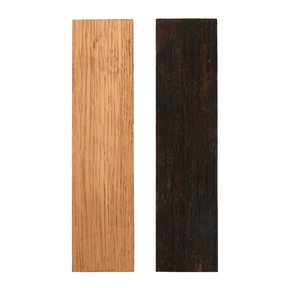 "Whiskey Wood Black and Tannin 3/8"" x 1-1/2"" x 5"" Bourbon Whiskey Barrel Staves Knife Scale 2-piece"