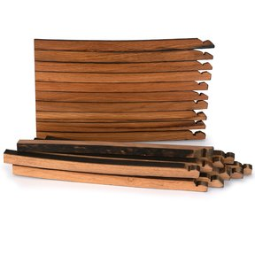 Whiskey Wood Bourbon Whiskey Barrel Staves Cutting Board Kit, Large