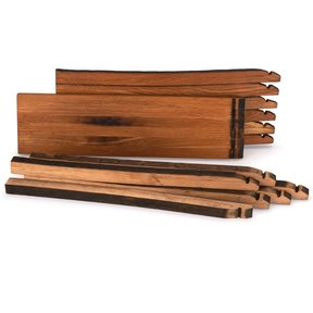 Whiskey Wood Bourbon Whiskey Barrel Staves Cutting Board Kit, Small