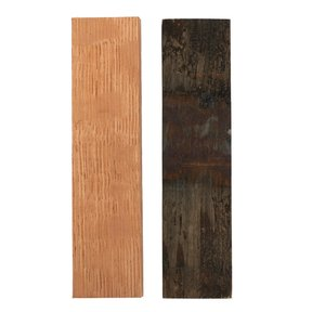 "Whiskey Wood Cooperage Select 3/8"" x 1-1/2"" x 5"" Bourbon Whiskey Barrel Staves Knife Scale 2-piece"