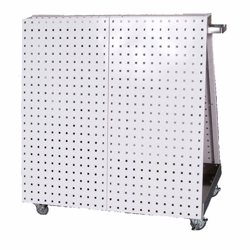 View a Larger Image of White Anodized Aluminum Frame Tool Cart with Tray 36-3/4 x 39-1/4 x 21-1/4