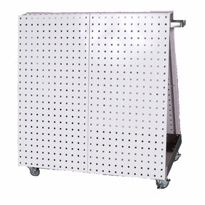 White Anodized Aluminum Frame Tool Cart with Tray 36-3/4 x 39-1/4 x 21-1/4
