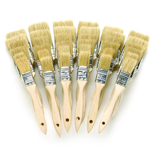 View a Larger Image of White China Brushes - Shop-Pack of 36