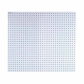 White Epoxy, 18 Gauge Steel Square Hole Pegboards