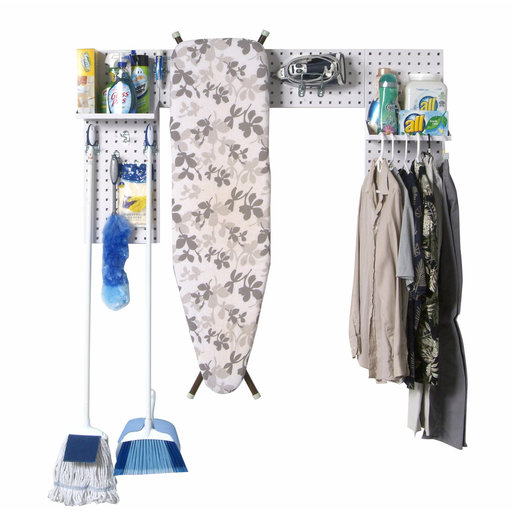 View a Larger Image of White Laundry Room Organizer Kit