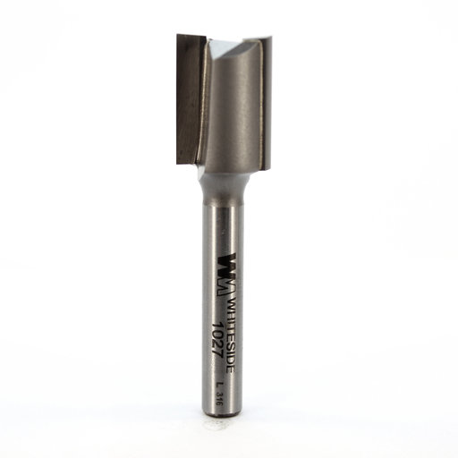 "View a Larger Image of 1027 Straight Cut Double Flute Router Bit 9/16"" D X 3/4"" CL 2-1/4"" OL"