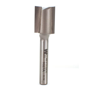 "1027A Straight Cut Double Flute Router Bit 19/32"" D X 3/4"" CL 2-1/4"" OL"