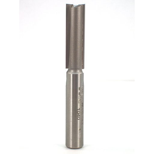 "View a Larger Image of 1040 Straight Cut Double Flute Router Bit 3/8"" D X 1-1/4"" CL 2-7/8"" OL"