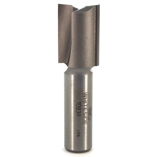 "View a Larger Image of 1083A Straight Cut Double Flute Router Bit 23/32"" D X 1"" CL 2-1/2"" OL"