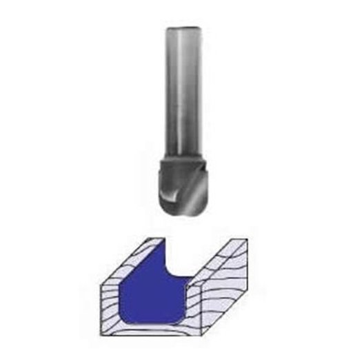 "View a Larger Image of 1370 Bowl And Tray Router Bit 1/8"" R 7/16"" OD x 5/16"" CL 2-1/8"" OL 1/4"" SH"