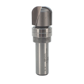 "1374B Bowl And Tray Router Bit with Double Bearing 1/4"" R 3/4"" OD x 5/8"" CL 2-3/8"" OL 1/2"" SH"