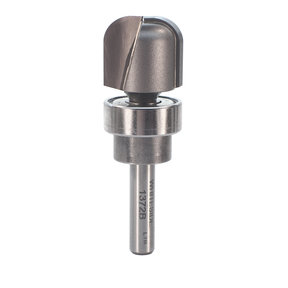 "1376B Bowl And Tray Router Bit with Bearing 1/4"" R 1-1/4"" OD x 1/2"" CL 2-1/8"" OL 1/2"" SH"