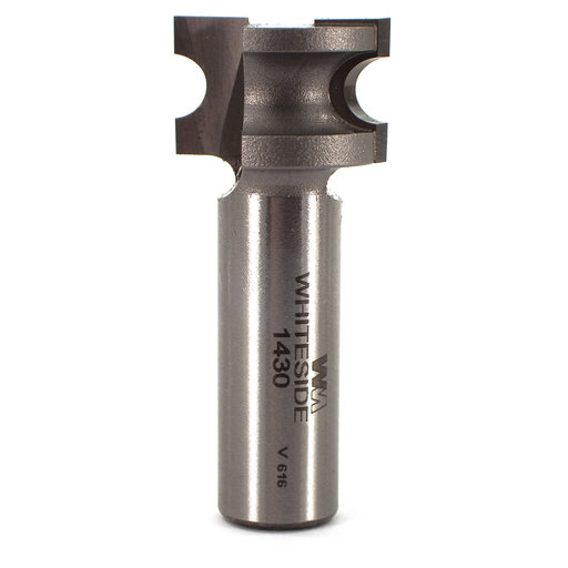 "View a Larger Image of 1430 Half Round (Bull Nose) Router Bit 1/2"" SH 1/8"" R X 1/4"" Co X 9/16"" CL 7/8"" D"