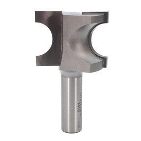"1433 Half Round (Bull Nose) Router Bit 1/2"" SH 3/8"" R X 3/4"" Co X 1-1/4"" CL 1-5/8"" D"