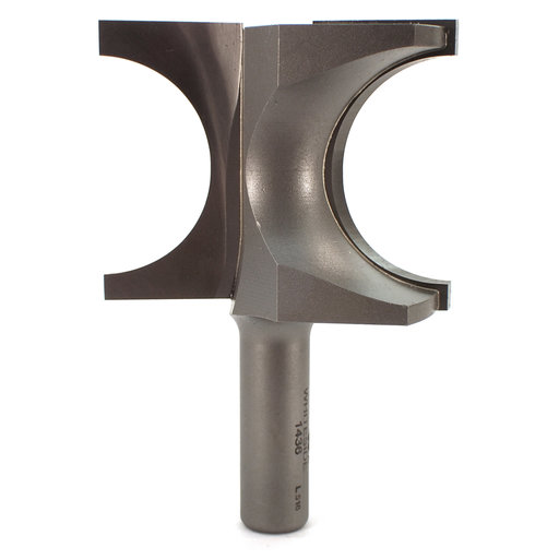 """View a Larger Image of 1436 Half Round (Bull Nose) Router Bit 1/2"""" SH 3/4"""" R X 1-1/2"""" Co X 1-7/8"""" CL 2-7/16"""" D"""