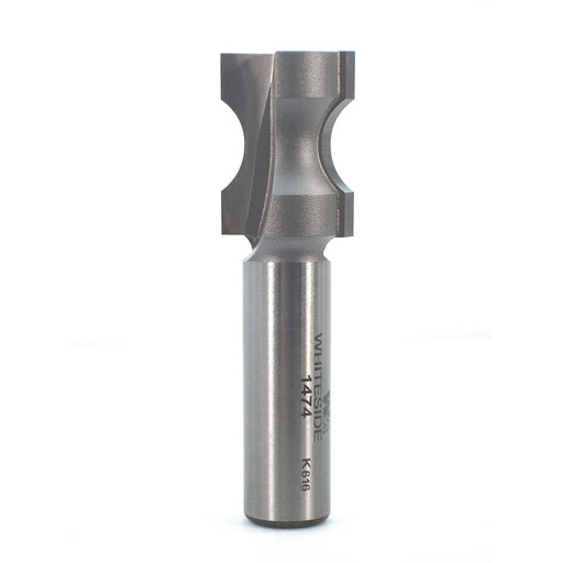 "View a Larger Image of 1474 Oval Edge (Half Bull Nose) Router Bit 1/2"" A X 1/8"" B X 1"" CL 3/4"" D"