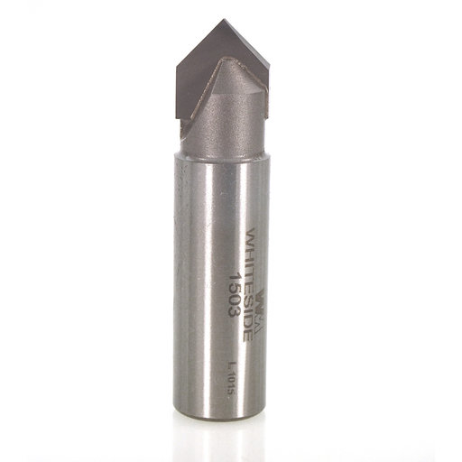 """View a Larger Image of 1503 V Groove Router Bit 1/2"""" SH 1/2"""" D X 1/4"""" P X 2"""" OL"""
