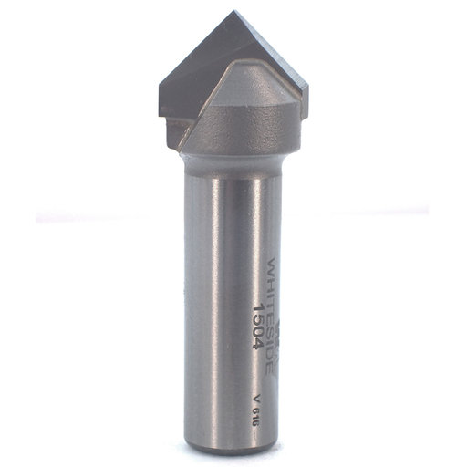 View a Larger Image of #1504 90 Degree V-Groove Router Bit, 3/4 CD, 3/8 PL, 1/2 SH, 2-1/4OL