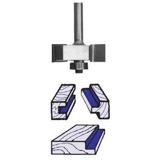 """View a Larger Image of 1904 Slotting And Rabbeting Router Bit 1/4"""" SH 1-1/4"""" D X 1/8"""" CL X 3/8"""" CD 2"""" OL"""