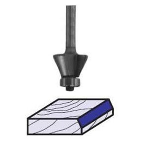 "2298 Edge Bevel Router Bit 7 A 1/4"" SH 3/8"" CL X 3/8"" CH 2-1/8"" OL"