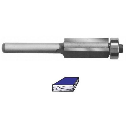"View a Larger Image of 2504 Three Flute Flush Trim Router Bit 1/2"" SH 1/2"" D x 1-1/2"" CL 3-5/8"" OL"