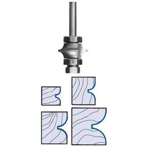 "View a Larger Image of 3196 Full Bead Router Bit 1/4"" SH 3/8"" R 1-3/8"" D X 7/8"" CL X 2-3/4"" OL"