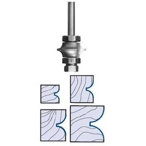 "3196 Full Bead Router Bit 1/4"" SH 3/8"" R 1-3/8"" D X 7/8"" CL X 2-3/4"" OL"