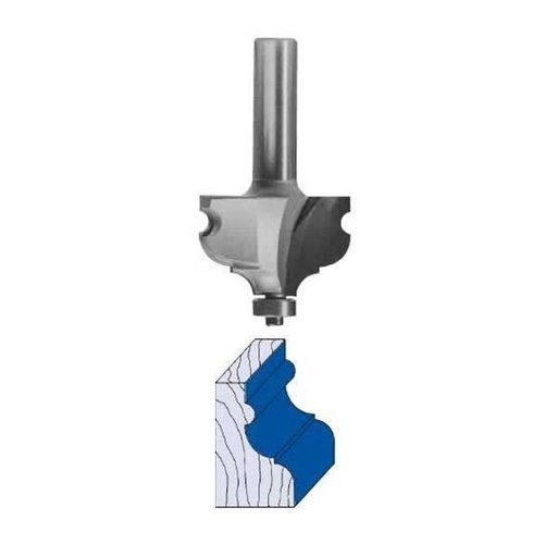 "View a Larger Image of 3280 French Provincial Molding Router Bit 1/4"" BD 1-3/4"" D X 1-1/8"" CL X 3-1/8"" OL"