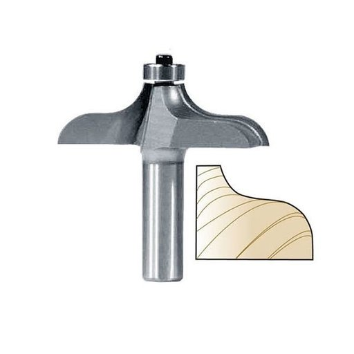 "View a Larger Image of 3296 Traditional Table Edge Router Bit 1"" PW 2-1/2"" D X 3/4"" CL X 2-1/2"" OL"