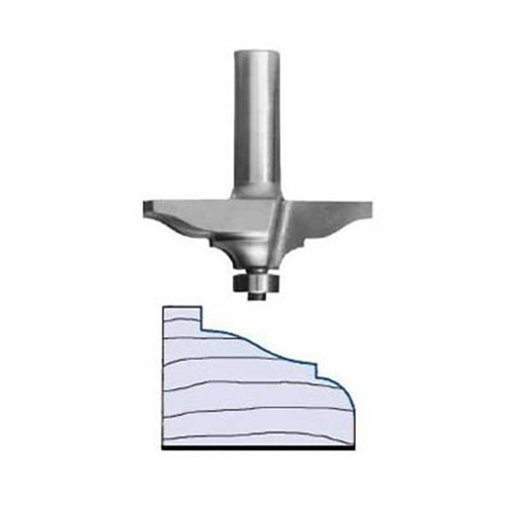 """View a Larger Image of 3298 Classical Ogee Table Edge Router Bit 1"""" PW 2-1/2"""" D X 3/4"""" CL X 2-1/2"""" OL"""