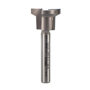 "3346 Locking Drawer Glue Joint Router Bit 1/4"" SH 3/4"" D X 1/2"" CL X 1-7/8"" OL"