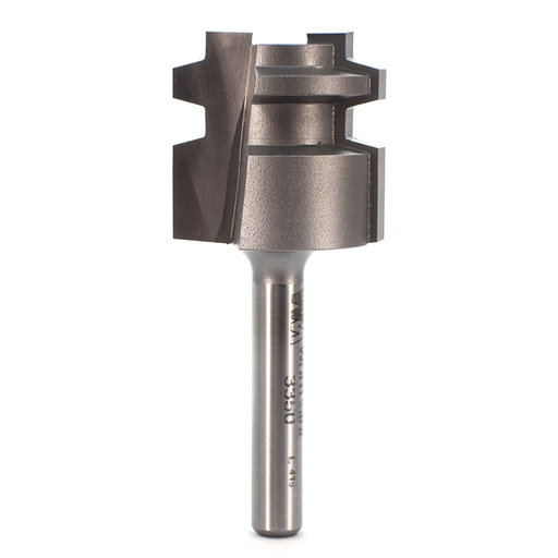 "View a Larger Image of 3350 Locking Drawer Glue Joint Router Bit 1"" D X 1"" CL 1/4"" SH"