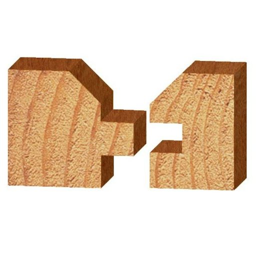 "View a Larger Image of 3374 Vee Panel Tongue And Groove (2) Router Bit 1-3/4"" D X 1"" CL X 2-3/4"" OL"