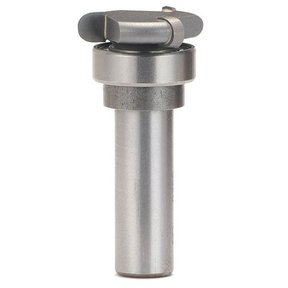 "#3520 1/4"" Stock Canoe Flute Router Bit With Bearing, 1/2"" SH, 1-1/8"" CD"