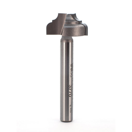 "View a Larger Image of 3770 Classical Flat Bottom Router Bit 1/4"" SH 7/64"" R 3/4"" D X 3/8"" CL X 2"" OL"