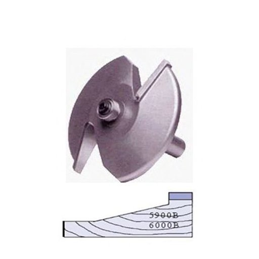 "View a Larger Image of 5900B 2-Wing Large Raised Panel Router Bit 3-1/4"" D, Straight"