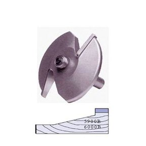 "5900B 2-Wing Large Raised Panel Router Bit 3-1/4"" D, Straight"