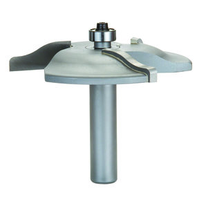 """6000C 3-Wing Large Raised Panel Router Bit 3-3/8"""" D, Ogee Cove"""