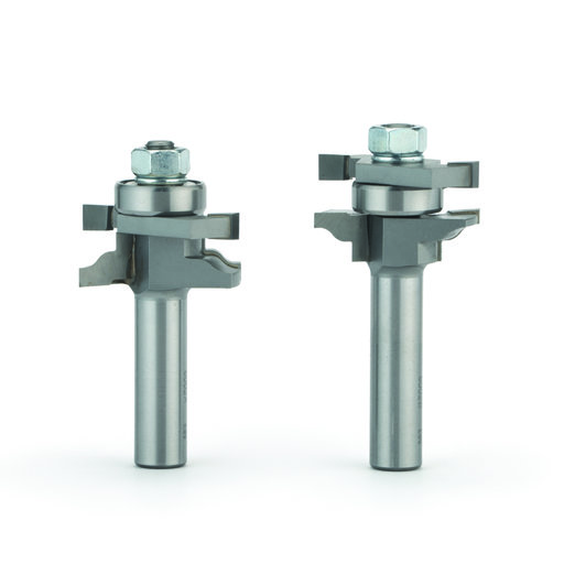 """View a Larger Image of 6002 2 Pc Ogee Stile And Rail Door Router Bit Set 1-5/8"""" OD x 7/8"""" CL 1/2"""" SH"""