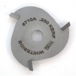 """6710A 3-Wing (1/4"""") Slotting Cutter Router Bit .250"""""""
