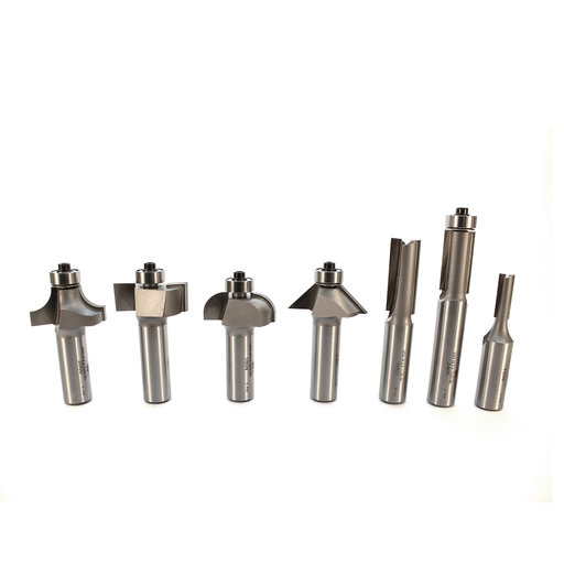 "View a Larger Image of 7-Piece Basic Router Bit Set, 1/2"" Shanks, Model 401"